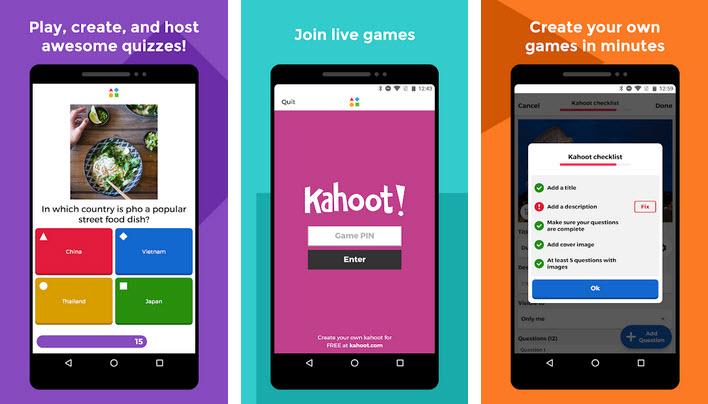 application Kahoot