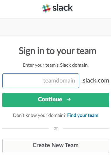 connexion slack