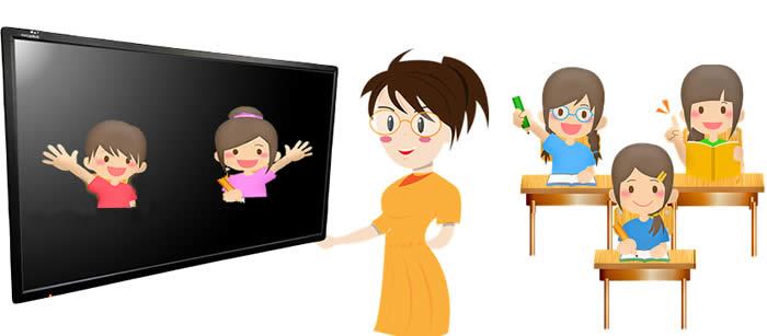 école hybride distanciel et présentiel, technologie interactives numériques