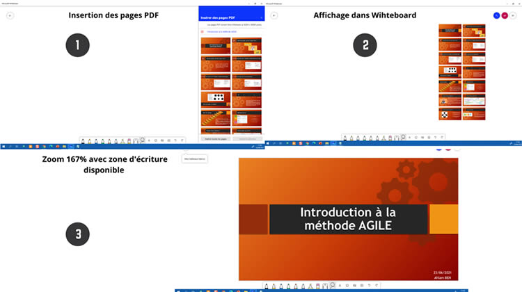 Import d'un fichier pdf sur Whiteboard