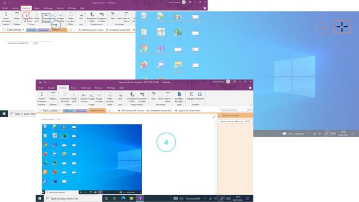 Capture d'écran du bureau